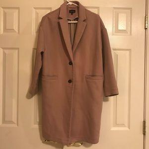 Topshop two button tuxedo coat size 6
